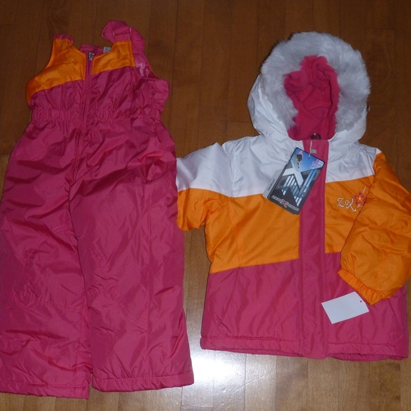 e34f5814b ZeroXposur Jackets & Coats   Pink Snowsuit Winter Coat Bibs Pants ...